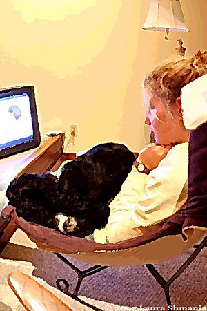 "1-14-08-- monday<br /> it's a dog's life #13<br /> <br /> ""properly trained, <br /> a man can be dog's best friend.""<br /> <br /> -- corey ford"