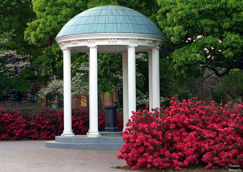"4-16-07-- Monday<br /> azaleas surround the old well on unc campus<br /> <br /> ""it is easy in the world to live after the world's opinion; <br /> it is easy in solitude to live after our own; <br /> but the great man is he who in the midst of the crowd keeps with perfect sweetness the independence of solitude.""<br /> <br /> -- ralph waldo emerson"