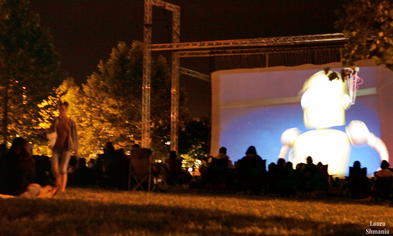 """6-15-07-- Friday movies on the lawn (1of 2)  """"some stories don't have a clear beginning, middle and end. life is about not knowing, having to change, taking the moment and making the best of it, without knowing what's going to happen next. Delicious ambiguity…""""   -- gilda radner"""