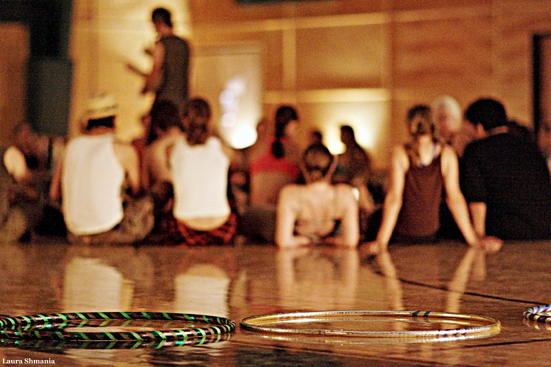6-18-09-- friday<br /> opening circle at hooping retreat