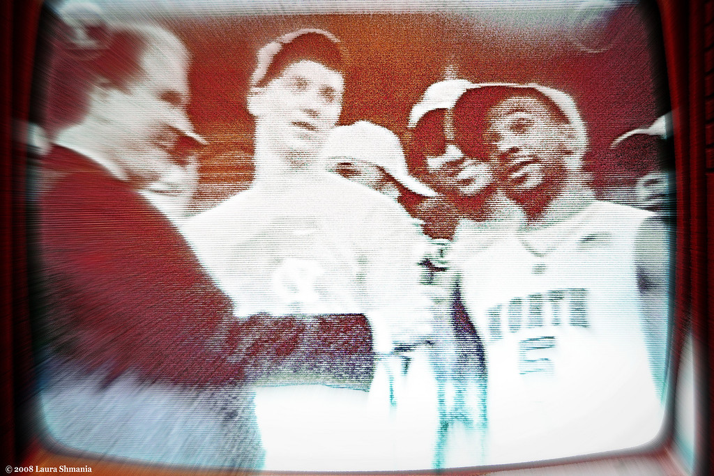 "4-6-09-- monday<br /> and the tar  heels won the ncaa national championship!!   I watched on my little b&w tv- seen here after the win is tyler hansbrough and ty lawson- an amazingly powrful duo and wonderful to watch on the court!<br /> <br /> for a cool time lapse of the post-game celebration on franklin street- click here:<br /> <br /> <a href=""http://www.dailytarheel.com/sports/m-basketball-tar-heels-win-fifth-national-title-1.1646019"">http://www.dailytarheel.com/sports/m-basketball-tar-heels-win-fifth-national-title-1.1646019</a>"