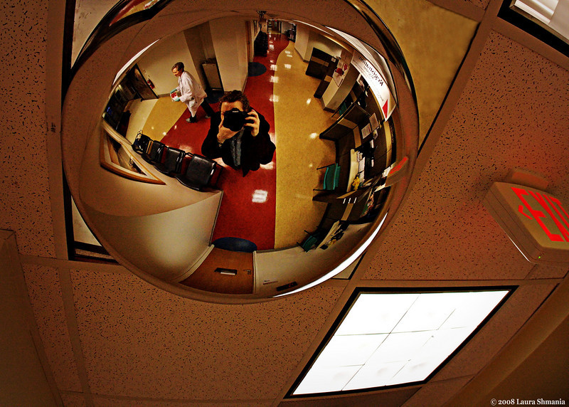 "3-26-09-- thursday<br /> at the doctor's office- wide angle lens and cool convex ceiling fixture...<br /> <br /> ""reflect on your present blessings, of which every man has many; not on your past misfortunes, of which all men have some.""<br /> <br /> -- charles dickens"