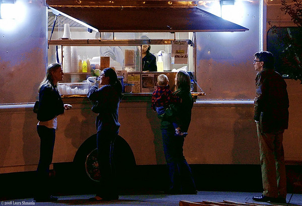 """10-23-08-- thursday<br /> taco truck does a brisk business in town<br /> <br /> """"window of opportunity..."""""""