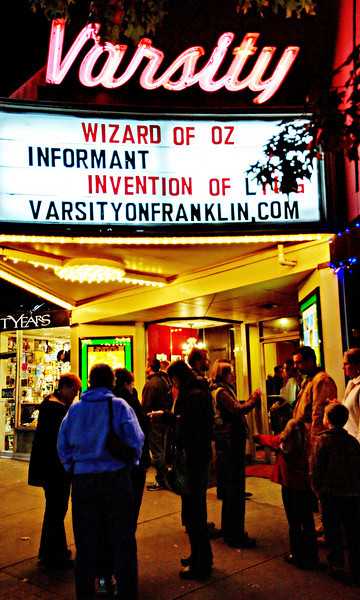 11-29-09-- sunday<br /> re-opening of the varsity theatre in chapel hill after having been closed by the previous owner