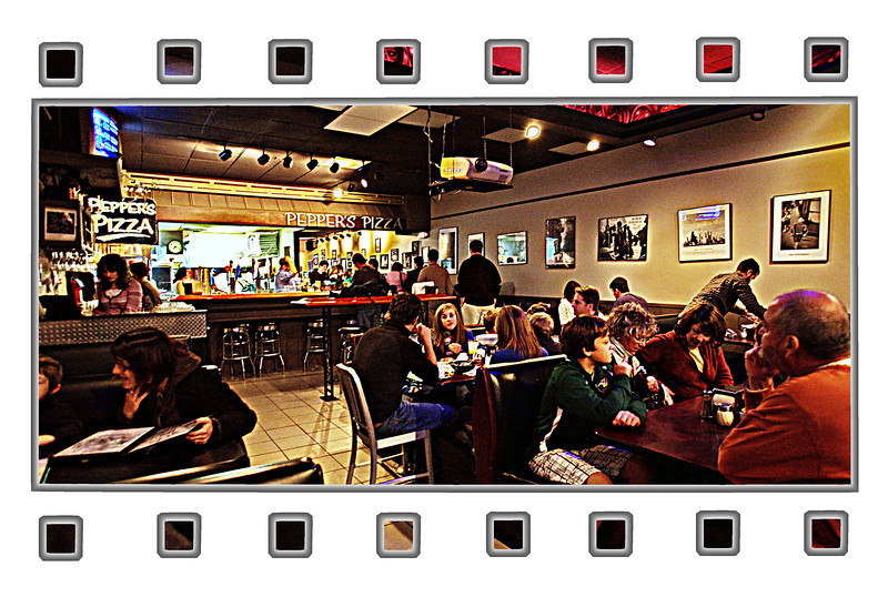 11-28-09-- saturday<br /> a popular pizza place in chapel hill-- pepper's pizza.  thanks for all your kind comments on my flower shot yesterday!