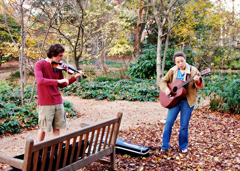 11-21-09-- saturday<br /> music  in the arboretum