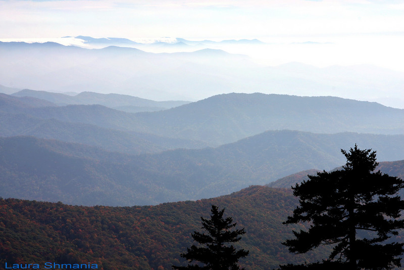 """10-28-07-- Sunday<br /> blue ridge mountains (they really are blue~!)<br /> <br /> <br /> -- """"the happiest man is he who learns from nature the lesson of worship.""""<br /> <br /> -- ralph waldo emerson"""