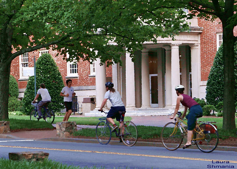 "8-7-07-- Tuesday<br /> these kids were biking and running on campus in the early evening after a scorchingly hot day.<br /> <br /> ""movement is a medicine for creating change in a person's physical, emotional, and mental states.""  <br /> <br /> -- carol welch"