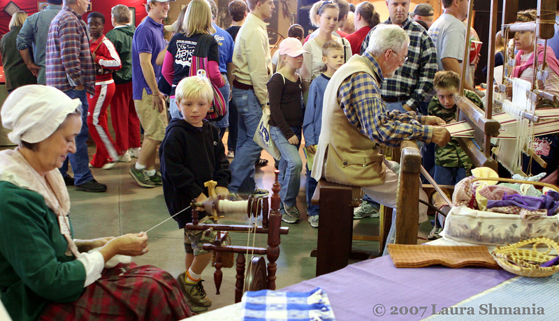 "10-13-07-- Saturday<br /> spent the day at the nc state fair.  this is from the heritage village, where crafts folks demonstrate their skills.  <br /> <br /> <br /> ""wheresoever you go, go with all your heart.""  <br /> <br /> -- confucius"