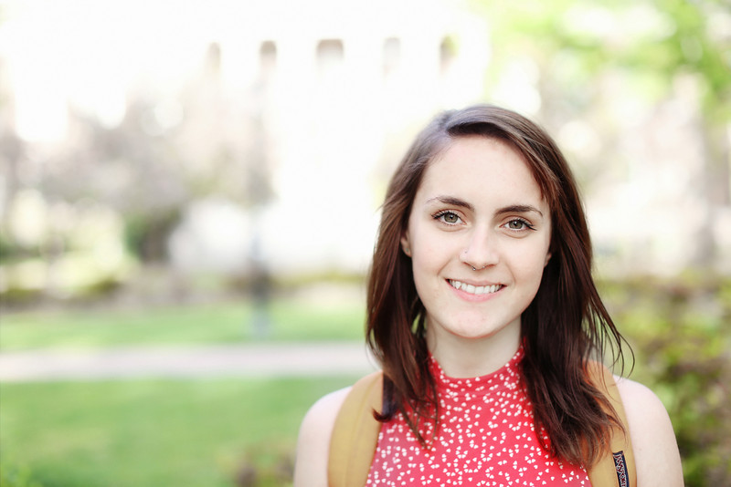 """A psychology major and recent transfer student from Long Island, she likes taking care of people. """"Whatever I end up doing, it will involve taking care of people."""""""