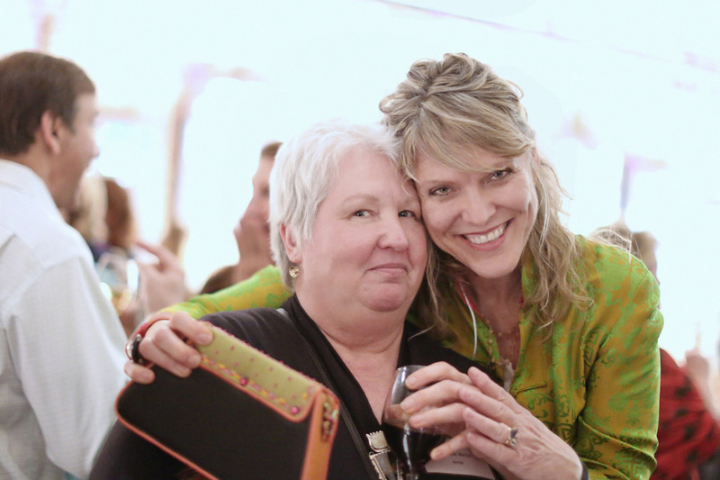 """I could have chatted for hours with these ladies - also met at the Compass fundraiser. Monnda (on the left) is a metal smith and folk artist  <a href=""""http://thejoyfuljewel.blogspot.com/"""">http://thejoyfuljewel.blogspot.com/</a>). Known as """"Chatham Granny,"""" she organized the first Orange County Open Studio Tour some 19 years ago - creating visibility for local artists' work. Markie (on the right) is an art lover and supporter of the Compass Center. She is in awe of her own children and each stage of their growth. She's also a fan of the blog """"Humans of New York!""""<br /> — with Markie Davis."""