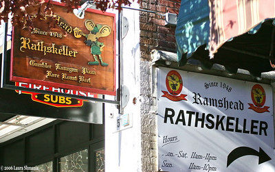 100 Block of East Franklin Street  Rathskeller Restaurant Since 1948