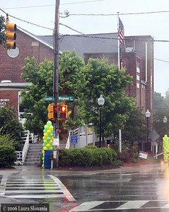 rain did not dampen the joyous spirit of Carrboro Day festivities.  organizers had prepared in advance to move the event inside the Carrboro Century Center in case of rain.