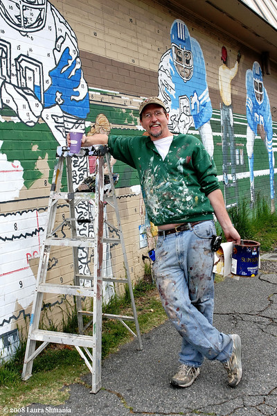 Mural artist Michael Brown