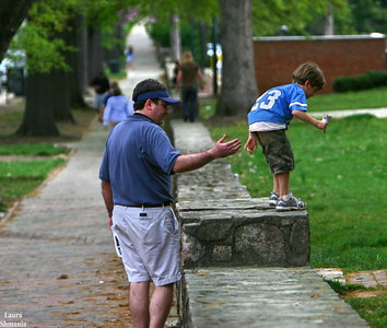 "a dad's helping hand at-the-ready  as his child takes a leap.    ""jump.""  -- joseph campbell"