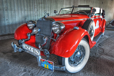 Number 1  Another beautiful veteran car.  This was also taken by the Incheba exhibition pavilion, during a veteran rally.  HDR from three shots, taken with Canon 450D with Sigma 10-20mm lens.