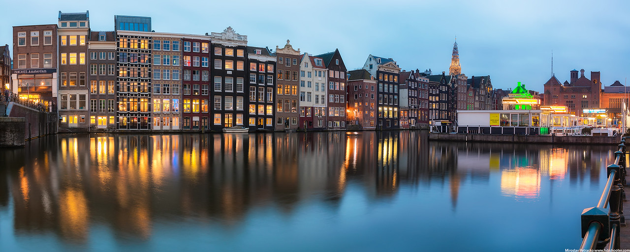 Amsterdam center panorama