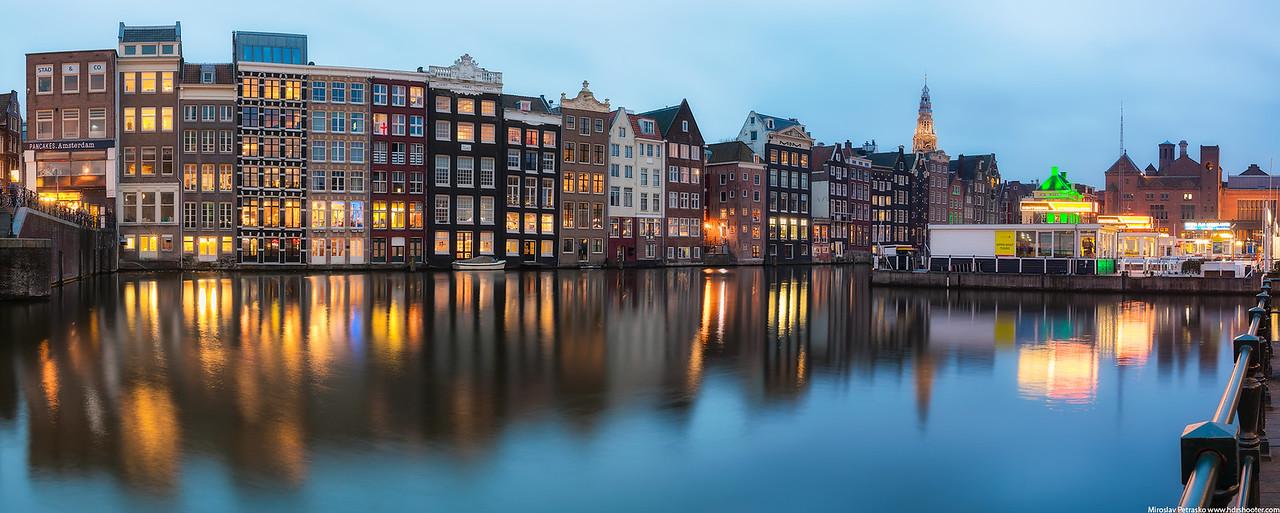 Amsterdam center panorama