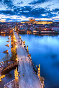 The leading bridge This view of the Charles bridge is really great. It just creates an excellent composition on its own.