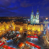 <h2>Easter Market</h2> Of course I had to go up the Old town hall tower in Prague. As the Easter market was in the square, I wanted to have a nice overview photo of the square.
