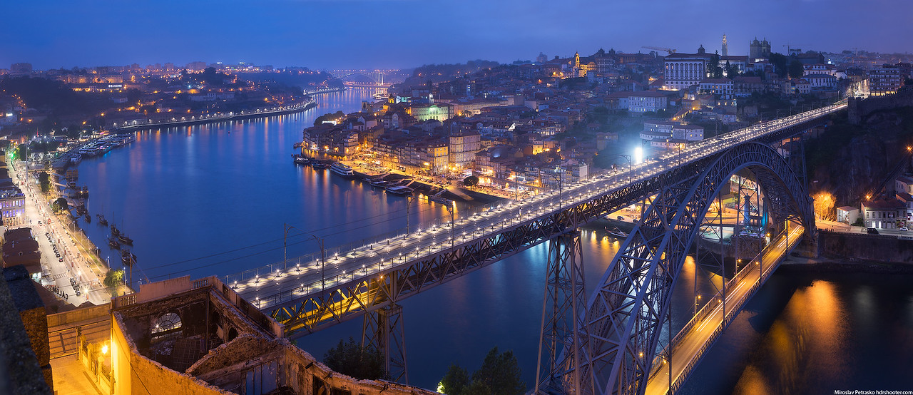 Over the Dom Luis I Bridge, Porto, Portugal