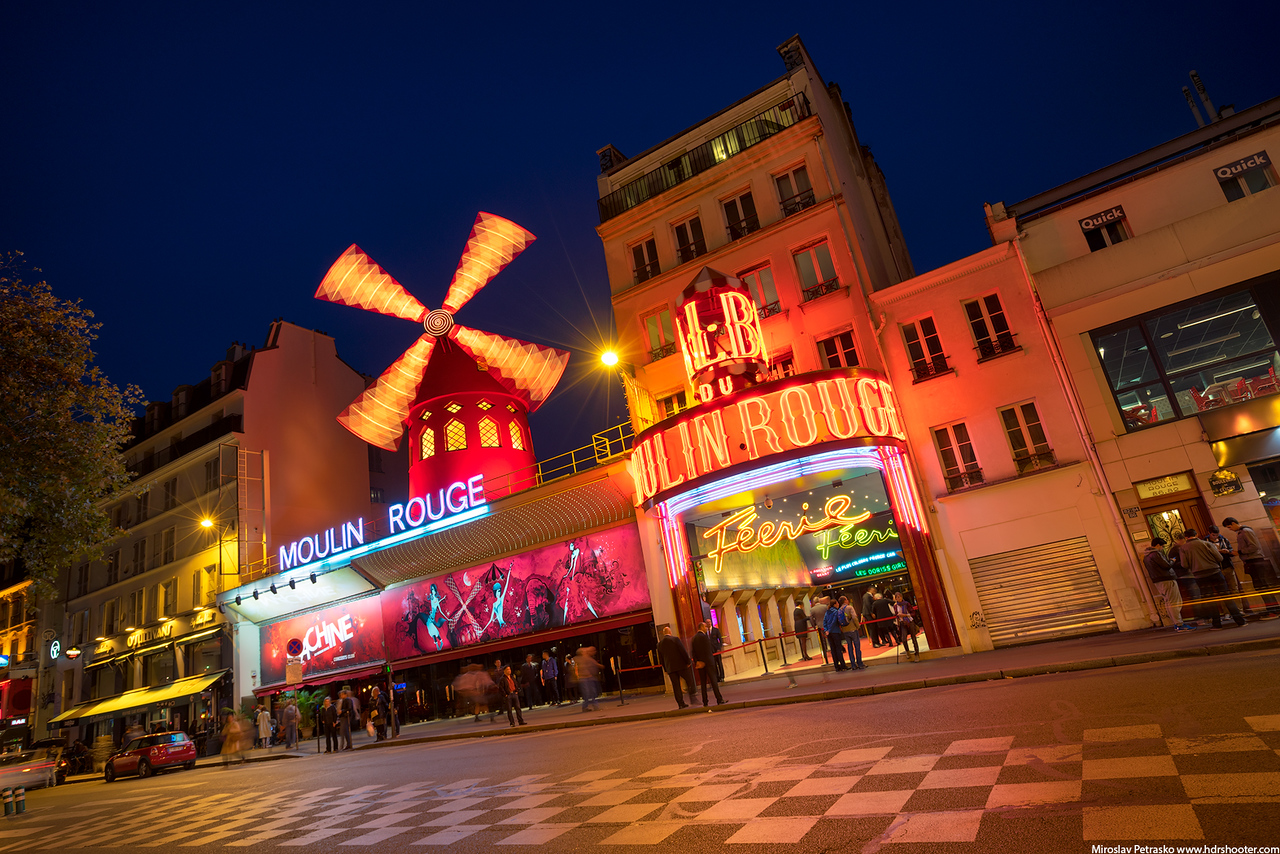 The red lights of the Moulin Rouge, Paris, France