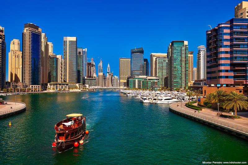 Clear sky over Dubai