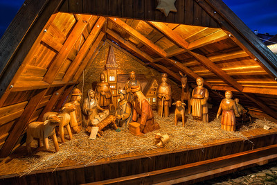 Wooden Betlehem  I took only few photos during Christmas, but most of them came out quite nice. So here you have another Christmas themed photo, the wooden betlehem in Bardejov.  HDR from three shots, taken with Canon 450D with Sigma 10-20mm lens, from a tripod.