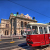 Tram in Vienna<br /> <br /> Something a little different. Had to do a lot of masking here, because all of the cars an people were moving a lot.<br /> <br /> HDR from three shots, taken with Canon 450D with Sigma 10-20mm lens, handheld.