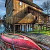 """The red boat in front of the water mill<br /> <br /> Another one of my older shots, from my """"backup"""" list (photos which I post, when I have no time to edit new ones :)). But If nothing went wrong, I should have spend the whole weekend taking new photos, so there should be something new tomorrow :)<br /> <br /> HDR from three shots, taken with Canon 450D with Sigma 10-20mm lens, from a tripod."""