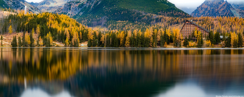 Autumn at the lake, Strbske pleso, Slovakia