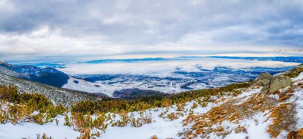Panorama from Rocky Mountain Lake