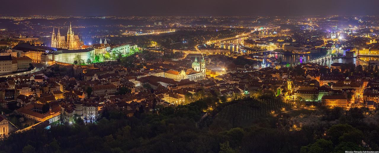 Night view of Prague, Czech republic