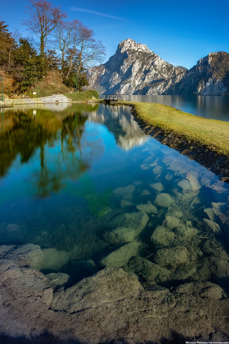 Clear water at the Traunsee, Austria
