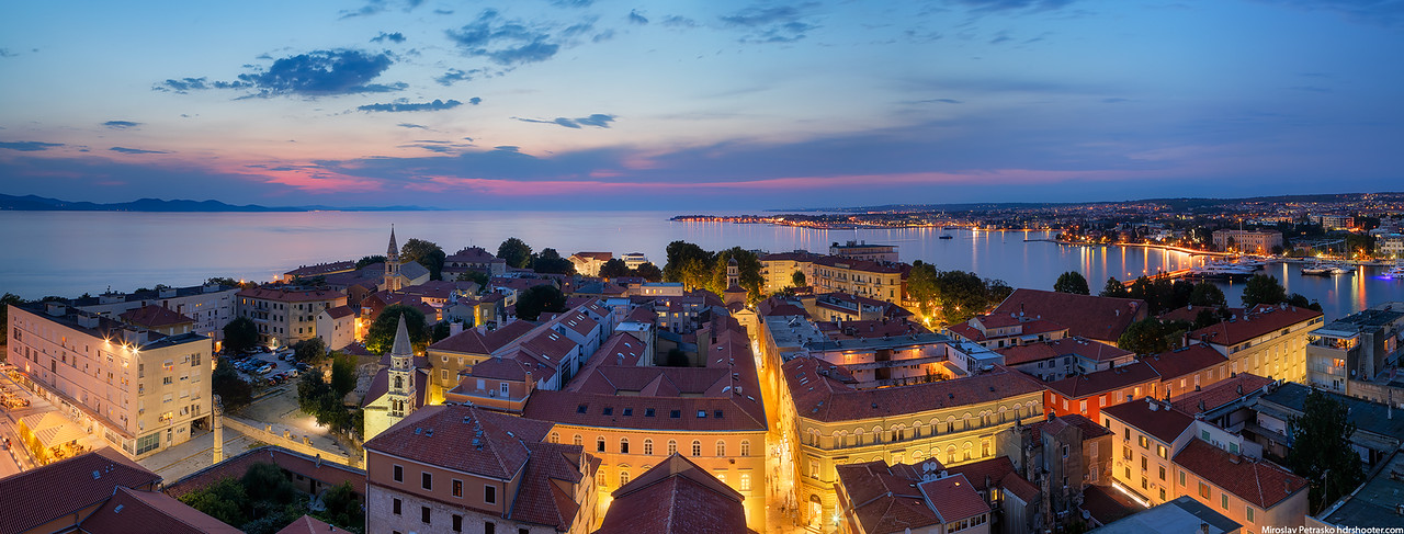 Summer panorama from Zadar, Croatia