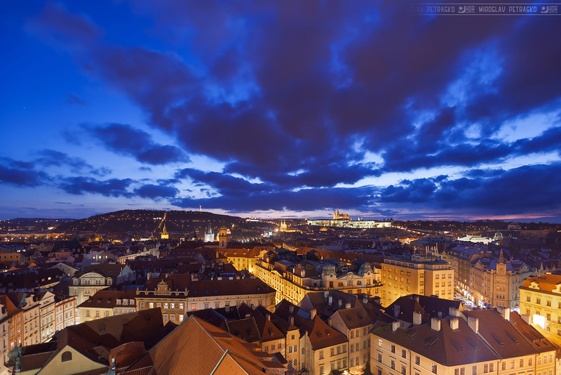 Stunning clouds over Prague
