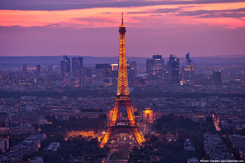 Soft sunset in Paris