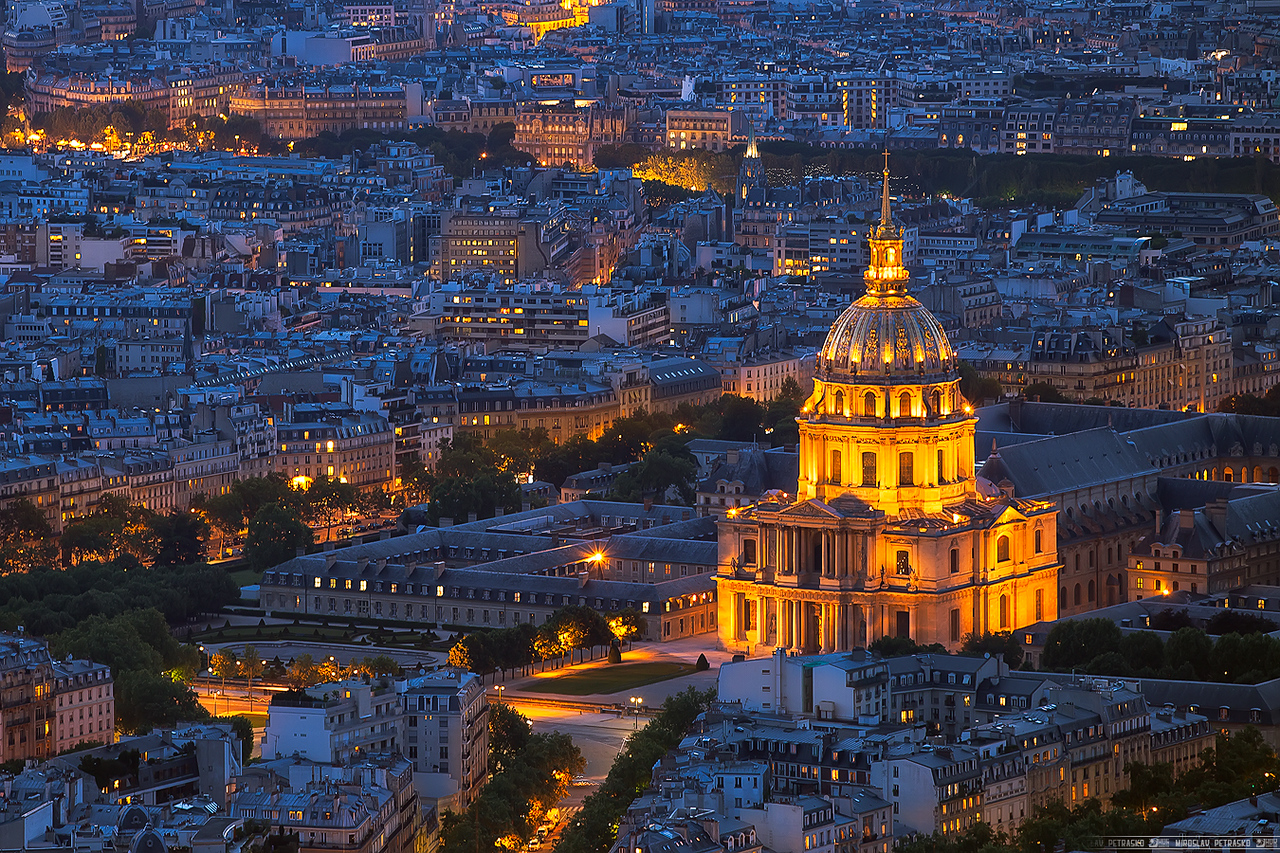 Les Invalides from high up