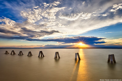 Sunset at the Neusiedlersee