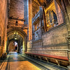 Side Alley <br /> <br /> Everybody takes photos in the main area of the Liverpool Cathedral and nobody takes photos here. Probably because it was quite dark. I was actually quite glad, because few people walked in front of my camera and due to the low amount of light, there are not on my photo :)<br /> <br /> HDR from three shots, taken with Canon 450D with Sigma 10-20mm lens, from a tripod. Photo taken at the Liverpool Cathedral in Liverpool