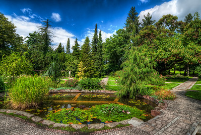 Little Paradise  The Botanical Garden of the Comenius University in Bratislava is such a nice place for a walk. It is quite close to the city center, but you wouldn't now it being there :)  I think editing trees in HDR is quite hard. HDR brings out so many detail and it whole becomes a one big mess. I had the same problem with this one, so I mixed it with the original shot (0 EV) to bring back the shadows in the trees and separate them from each other. I think I was quite successful :)  HDR from three shots, taken with Canon 450D with Sigma 10-20mm lens, handheld. Photo taken in late summer of 2010.