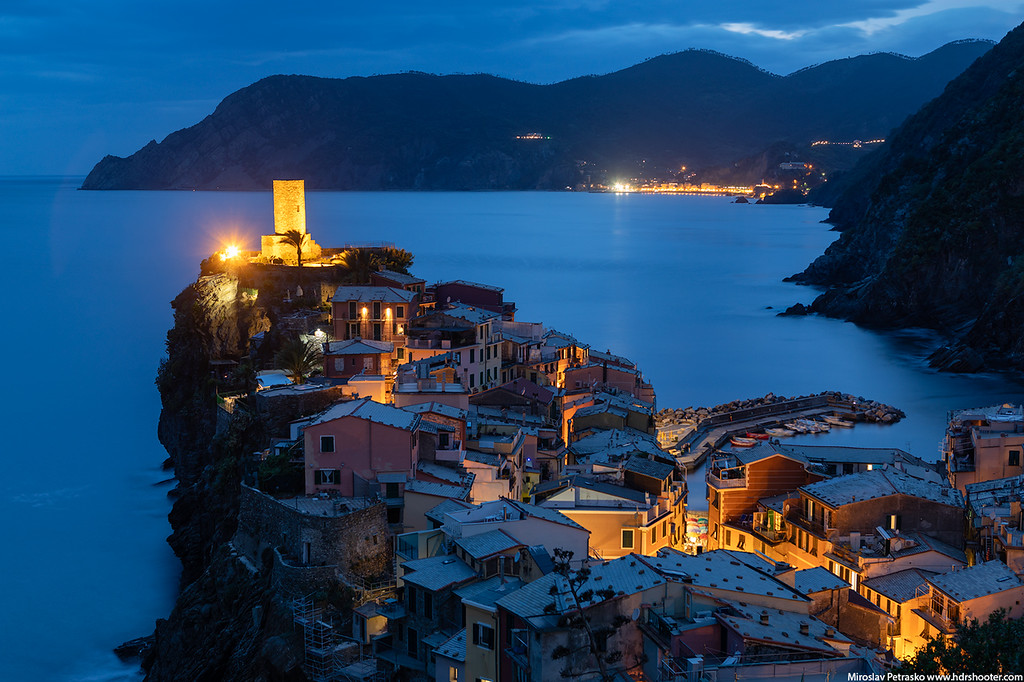 Vernazza after sunset, Italy, Cinque Terre