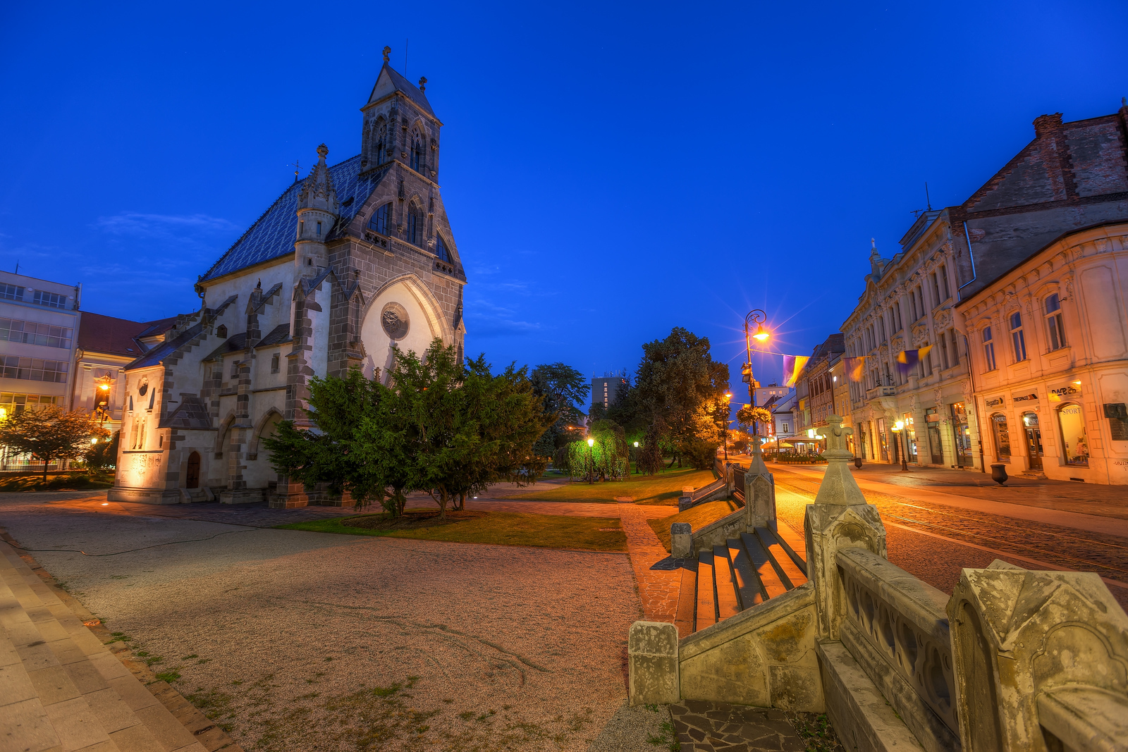 Blue Hour in Kosice The center of Kosice give many great photo opportunities.