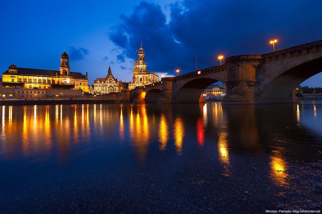 Blue water in Dresden