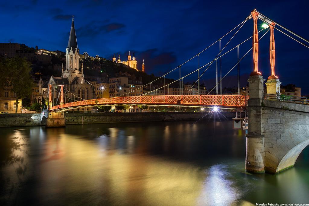 Passerelle Saint-Georges bridge in Lyon, France