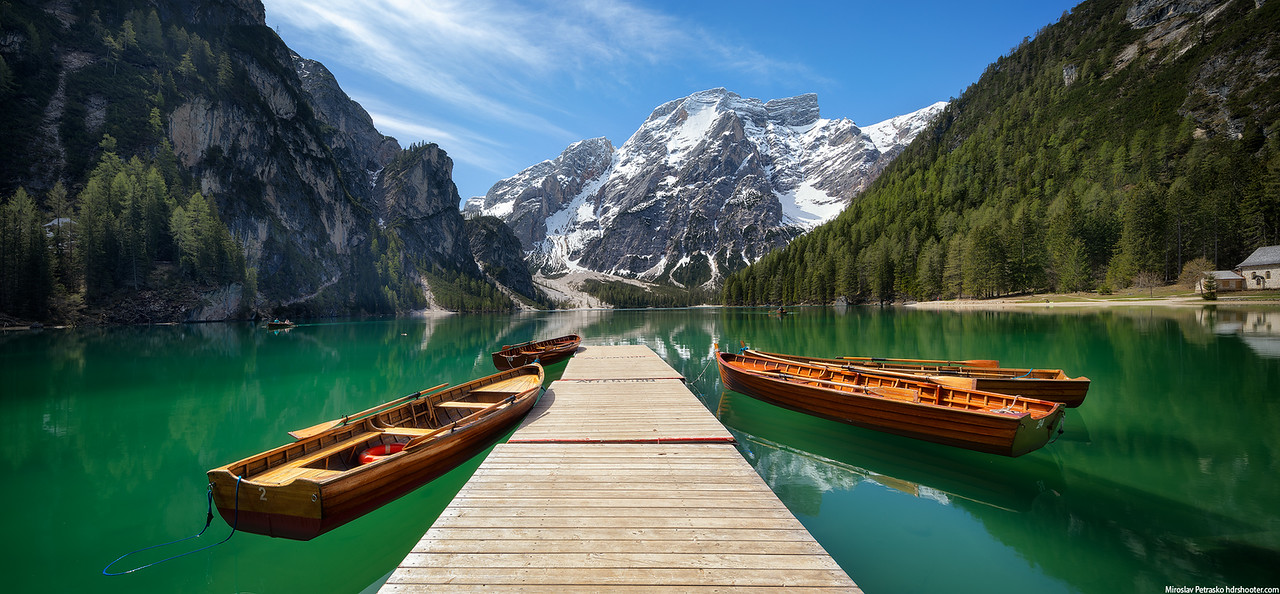 Boats at the Lago di Braies