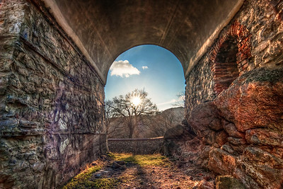Sun shines through   One of the shots I took at the Red stone castle. I tried to catch the sun rays in this one, with as many details in the rock wall as possible :)  HDR from three shots, taken with Canon 450D with Sigma 10-20mm lens, from a tripod.
