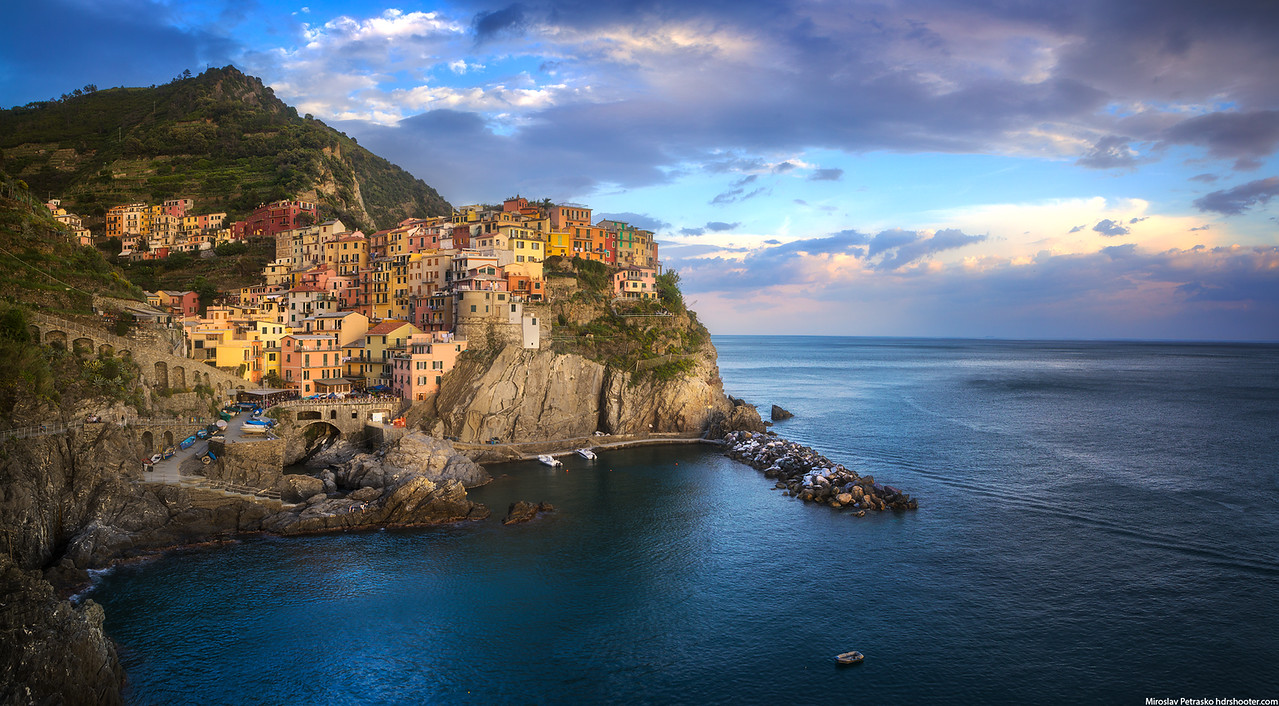 Afternoon clouds over Manarola