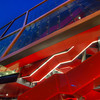 Red Stairs<br /> <br /> One for the hockey fans :). This is a part of the newly reconstructed Ondrej Nepela Arena where the 2011 IIHF World Championship will be held in a few weeks. There are still a few constructions going on there, so I opted for this closer shot, so you cannot see it :). This red stairs are really dominant on the building and very visible, and with the blue hour sky and the white light, I have here all the colors of the Slovak flag :)<br /> <br /> HDR from three shots, taken with Canon 450D with Sigma 10-20mm lens, from a tripod. Taken few minutes after sunset.