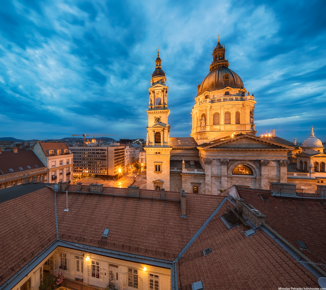 St. Stephen's Basilica from the side, Budapest, Hungary